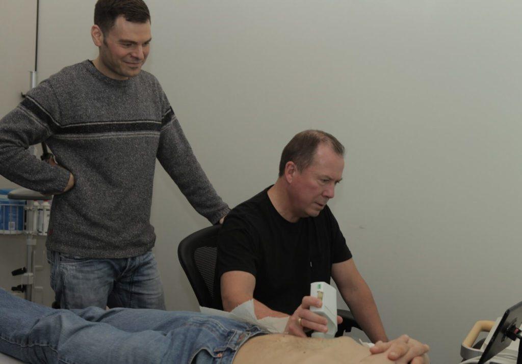 Co-founders Laurent Pelissier & Dave Willis using Clarius
