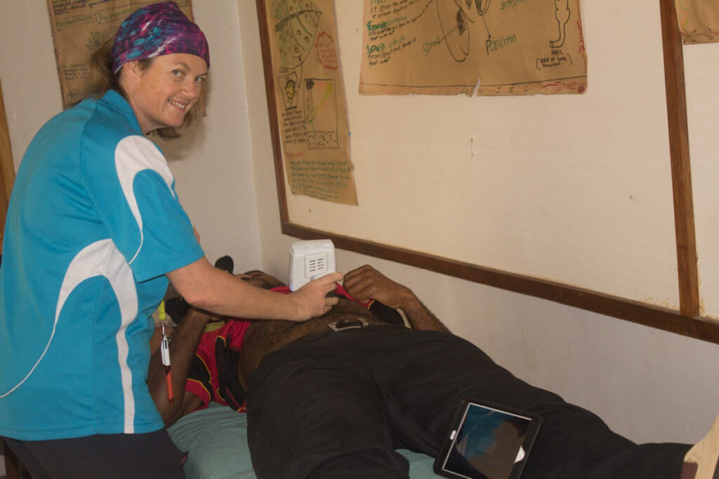 Sharyn Moodie scanning a patient